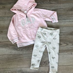Baby Gap Sparkle Hoodie And Legging